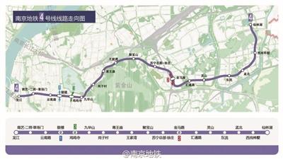 南京地铁4号线路线图