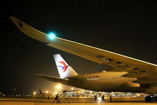 图:东航A350-900惊艳亮相始飞广州