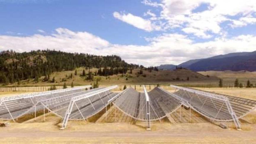 资料图:加拿大氢强度测绘实验(CHIME)射电望远镜