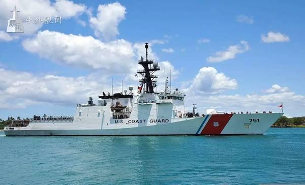 图为美国海岸警卫队舰艇