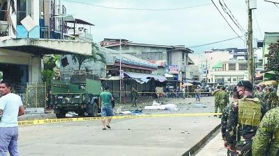 菲律宾苏禄省连环爆炸致19人死亡