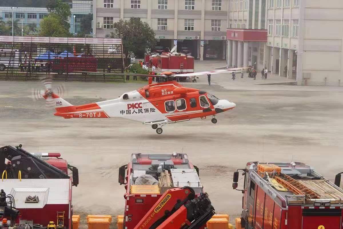广东救援直升机助力地震灾害跨区域救援演练
