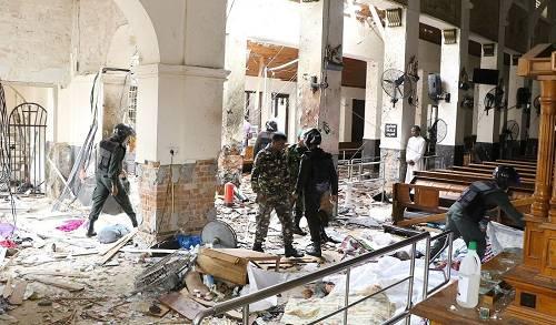 当地时间2019年4月21日,斯里兰卡科伦坡,教堂爆炸现场。图/视觉中国