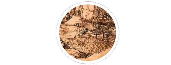 有研究者认为,这幅作品体现出列奥纳多对家乡的眷恋之情,也有人认为这是在勾勒当地的地形地貌,是为了之后的水利工程服务。在列奥纳多后来的人生当中,如何有效利用亚诺河河水的水力以及出于军事目的让亚诺河改道都是深深吸引他的课题。后来,他不仅成为了一名水利工程师,他对水流的研究还激发了对空气动力学的洞见。