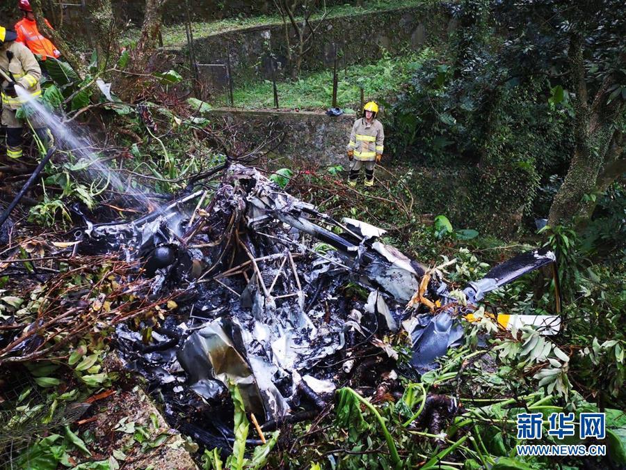 香港一架直升機墜毀 一人死亡