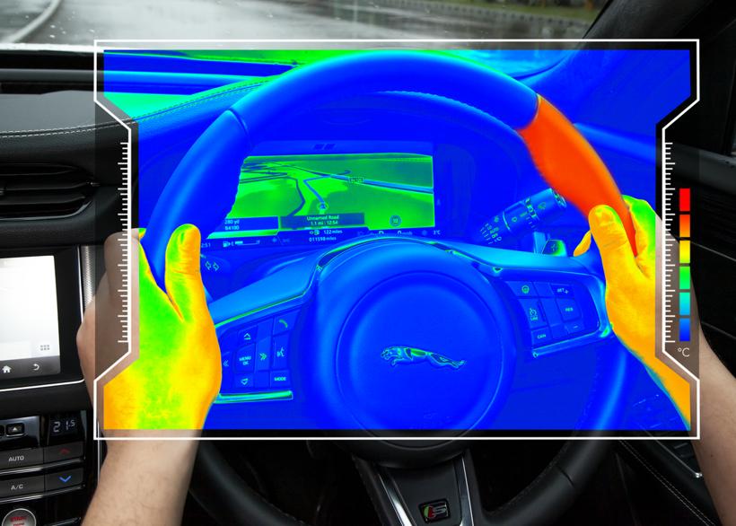 """捷豹路虎推""""感觉方向盘"""" 通过加热方向盘防止驾驶员分心"""