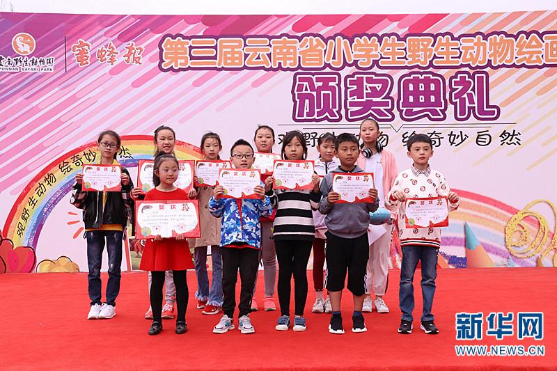 """云南""""观野生动物 绘奇妙自然""""小学生绘画大赛奖项揭晓"""