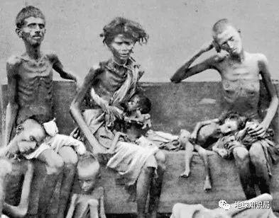 1877年饥荒时的灾民