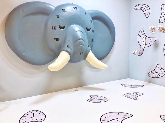 """(展区""""大象对时间的永久记忆"""")"""