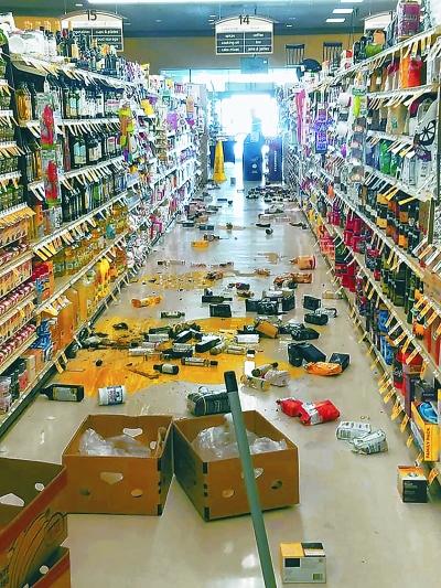 加州发生6.4级地震 房屋摇晃10秒