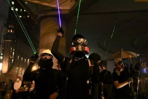 8月31日,激进示威者在香港多区非法集结并实施违法及暴力行为。
