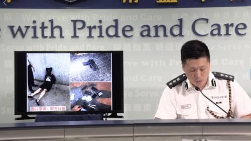 警方展示现场图片