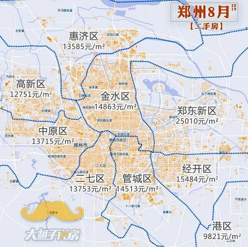除了郑东新区和临近它的经开,其他区域房价非常扁平化,都在1万3、1万4附近。这主要跟三个因素有关,一是郑州作为路网发达的平原城市,交通便利;二是各区域的配套差距不大,尤其商业;三是这几年城市发展快,人们对各片区未来的预期也很高,就愿意付出高价。 但国人的预期,总是容易超理性的爆发,我们看看各片区的二手房走势就知道了: