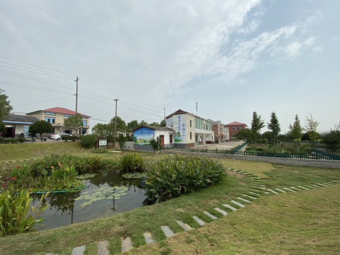图为长沙市望城区靖港镇复胜村村内一角。新华网 汪亚摄