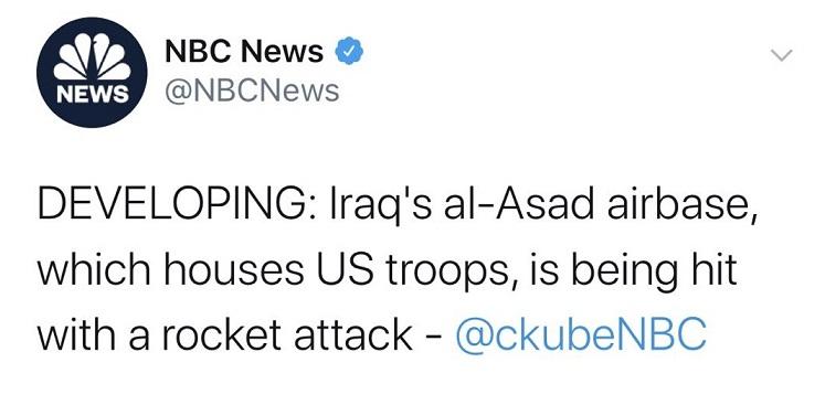 突发劲爆消息!美军驻伊拉克阿萨德的基地遭到导弹袭击 金价短线暴涨、突破1590