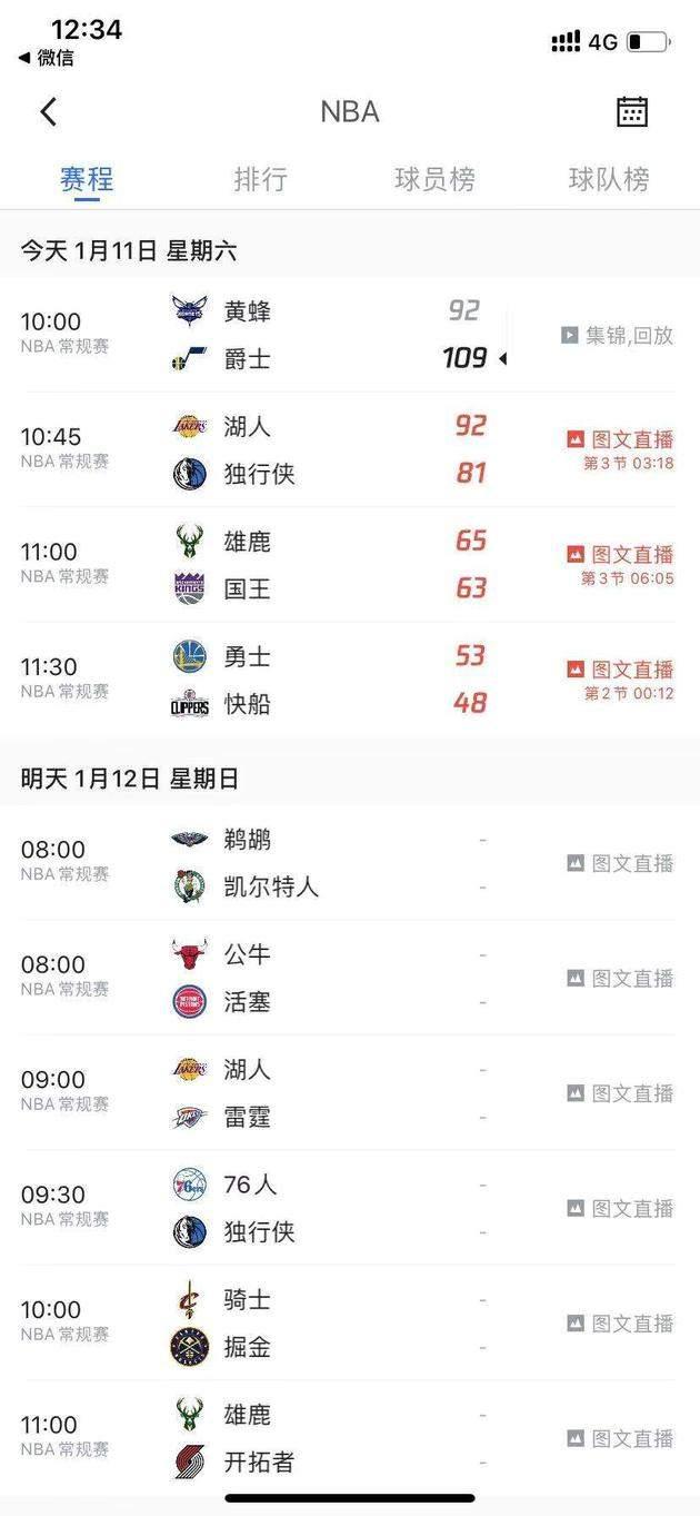 新浪科技讯 1月11日午间消息,今日网友爆料,发现腾讯NBA赛事视频直播转为图文直播,引起热议。