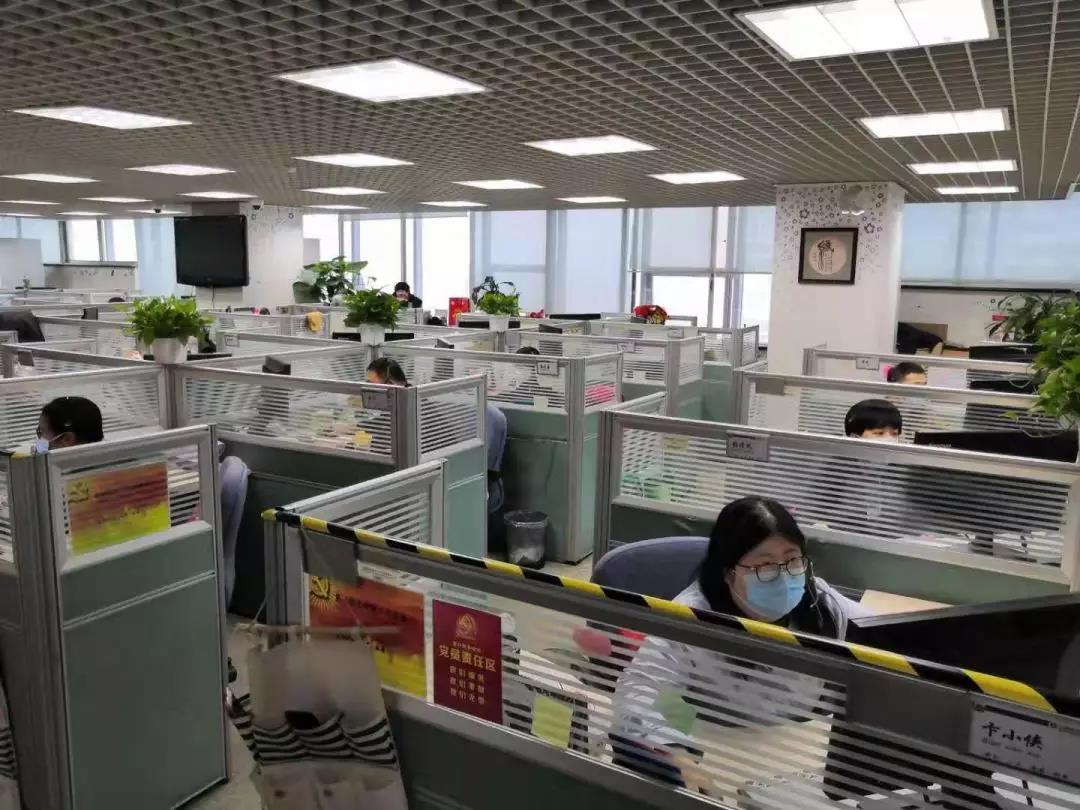 远程智能银行中心春节期间,每天有超过一千名员工坚守服务岗位