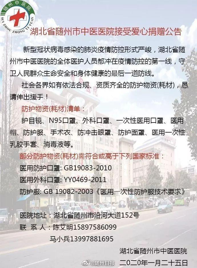 确诊病例已超700,医疗物资告急!不克无视随州云云的城市