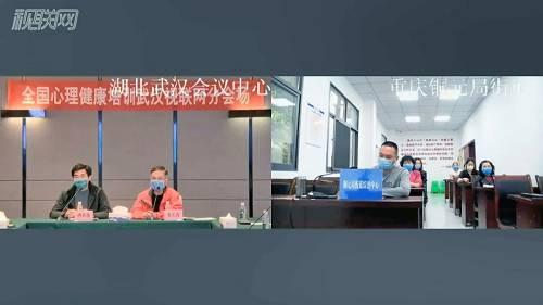 武汉会场和重庆铜元局街道综治中心互动