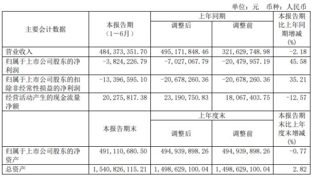 凤凰光学股票:凤凰光学2020年上半年亏损382.4