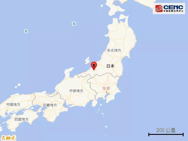 日本本州岛发生5.2级地震
