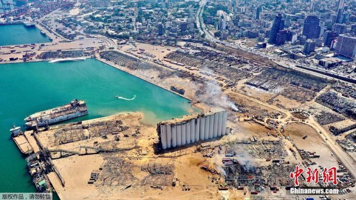 黎巴嫩贝鲁特爆炸留下43米深坑 示威活动致逾700人伤