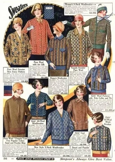 摩登日记 从渔民到贵族 关于毛衣的那些事儿