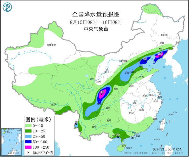 东北等地有大到暴雨  四川盆地东北部仍有强降水