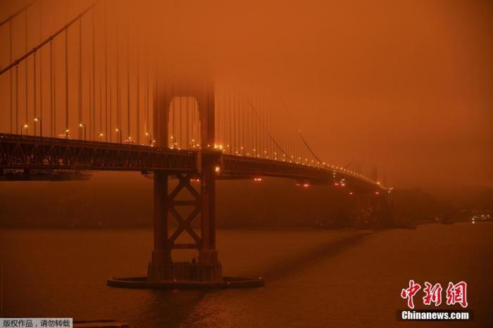 美西部山火延烧至少36人死亡 烟霾飘散遮天蔽日