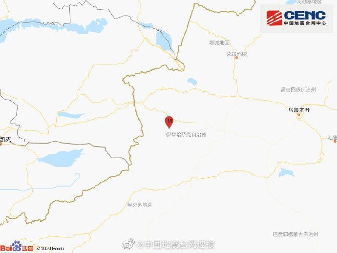 新疆伊犁州巩留县发生4.2级地震 震源深度17千米