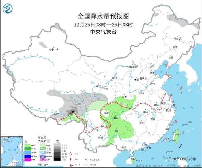 弱冷空气影响华北东北地区 华北中南部黄淮等地有霾天气