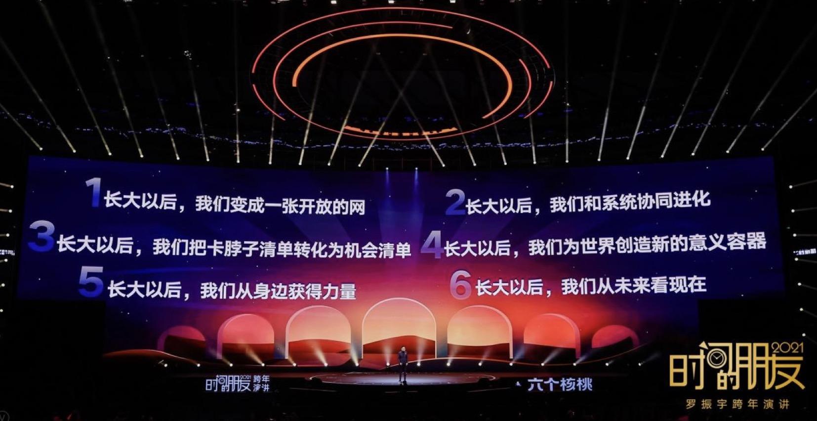 """usdt钱包支付(caibao.it):罗振宇2021时间的同伙跨年演讲:迎接""""长大以后""""新挑战 第6张"""