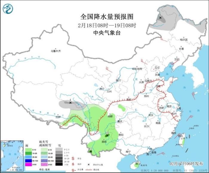 冷空气继续影响东部地区 东部海区有大风