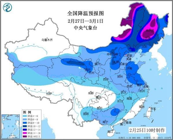 今天开始!新一轮更大范围雨雪来袭:最高气温重回0℃以下