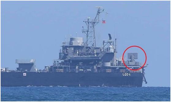 """台媒晒出台湾""""海剑羚""""导弹上舰测试照,台网友:又是乌龙院搞出来的东西…"""