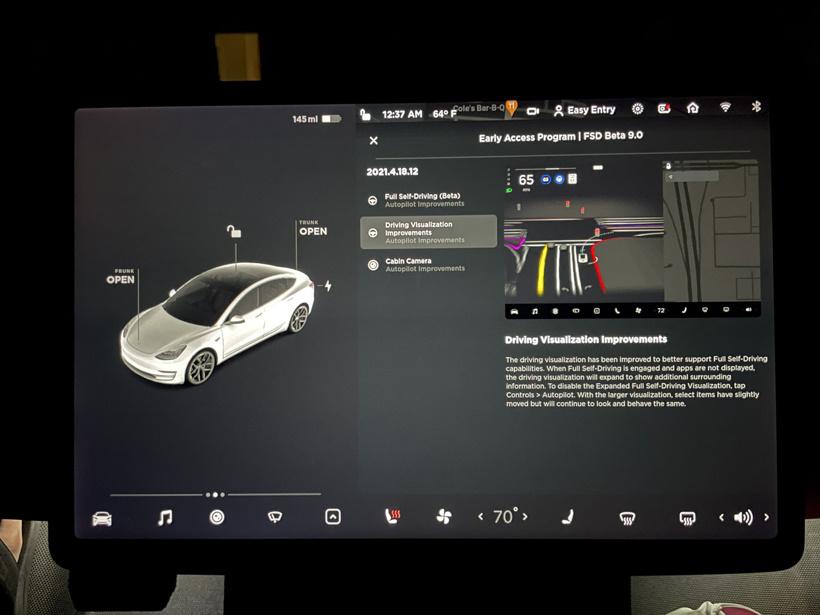 特斯拉FSD Beta V9正式推出 路面情况更清晰