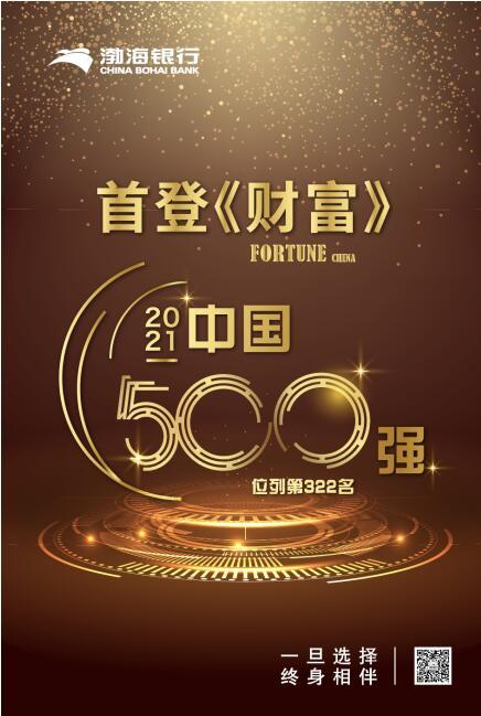 首次跻身《财富》中国500强榜单 渤海银行:国际化战略加速落地 国际知名度持续提升