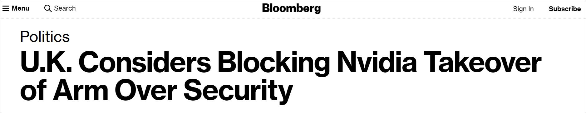 外媒称英国倾向否决英伟达收购Arm,中国推迟审查