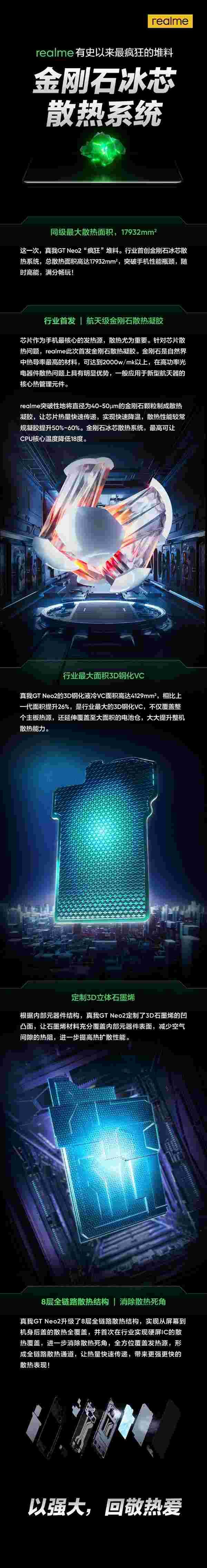 """""""冰冻""""骁龙870!realme GT Neo2行业首发新散热:迄今最疯狂堆料"""