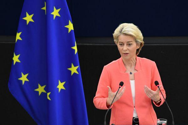 """冯德莱恩发表年度""""盟情咨文"""" 促欧盟加强军力"""