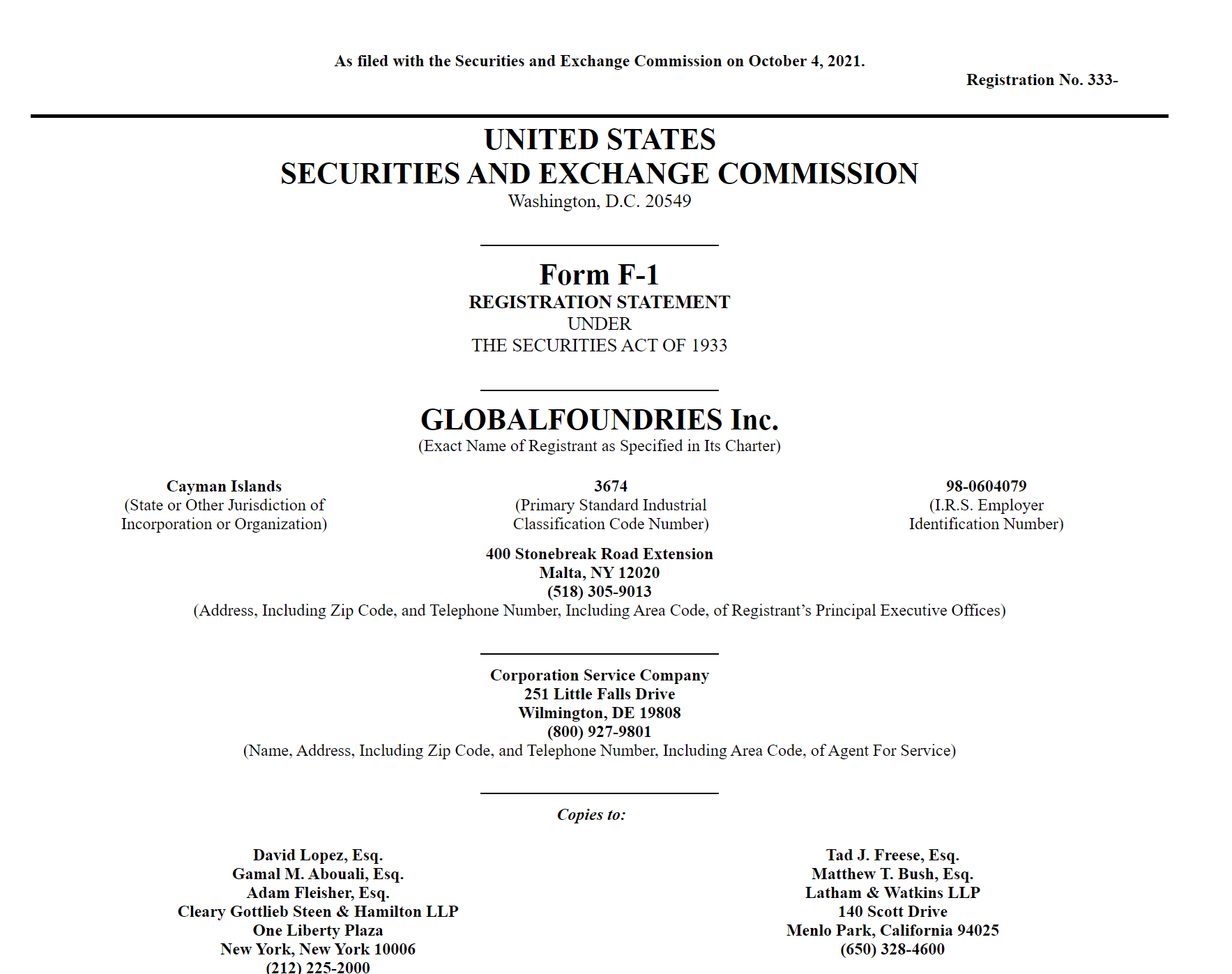 半导体巨头格芯申请在美IPO 上半年净亏损收窄至3.01亿美元